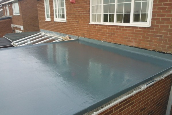GRP Flat Roof Top Coat Completed